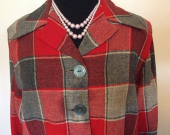 Vintage Pendleton Ladies Coat - Large