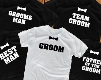bachelor shirts (5) bachelor party groomsmen gift groom gift groomsmen gifts wedding shirts groomsman shirt Groom's crew