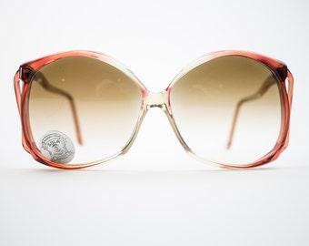 Vintage Sunglasses | Oversized 70s Sunglasses | Peach Gradient | Vintage Deadstock Sunglasses - Dakota Peach