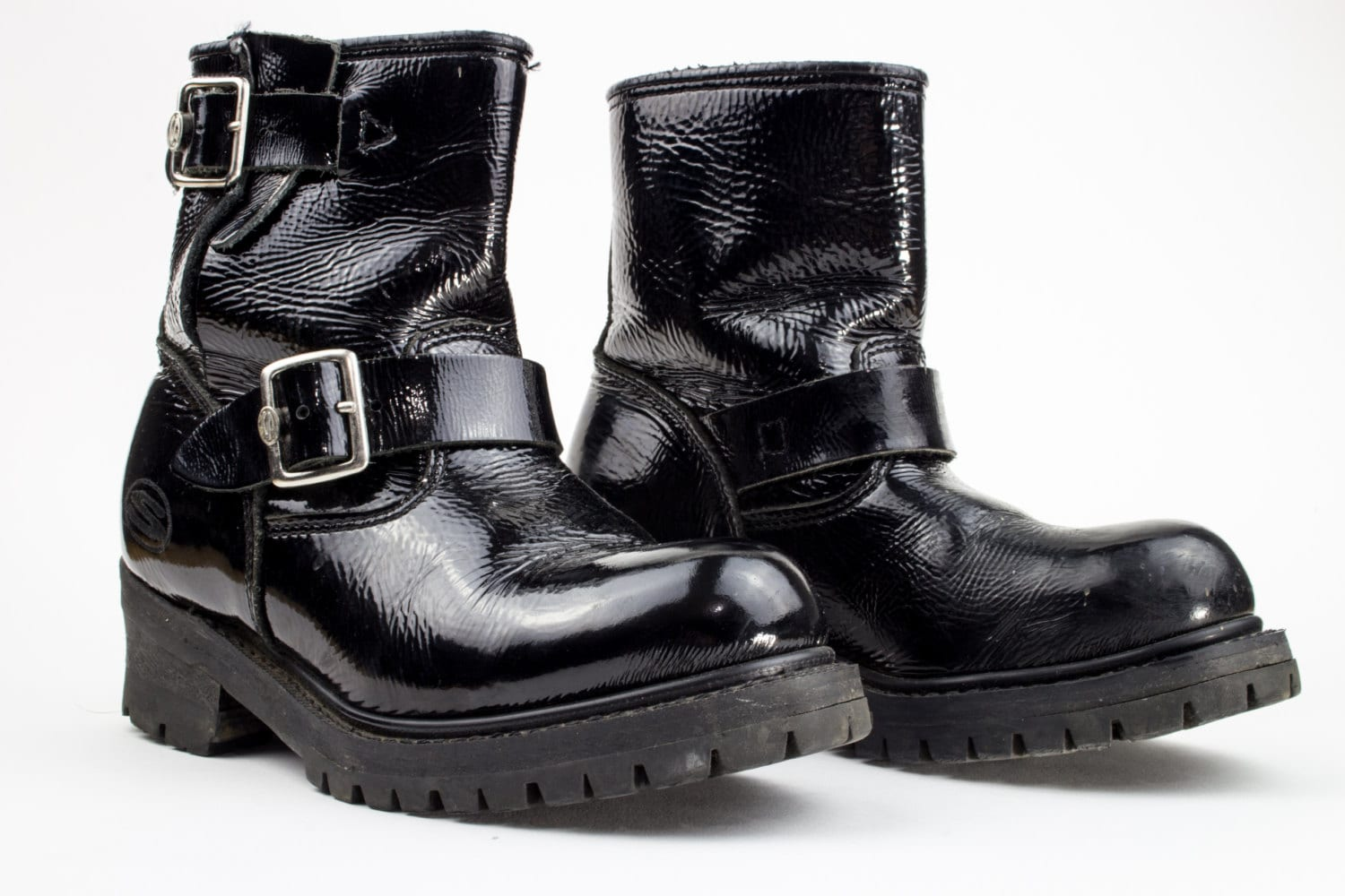 boots platform leather motorcycle skechers combat 90s patent boot ankle chunky goth grunge euro