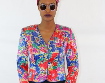 Multi colored sequins jacket
