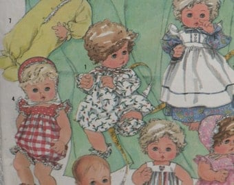 """Simplicity 7644 Pattern Baby Doll Clothes Wardrobe 17"""" 18"""" Size L"""