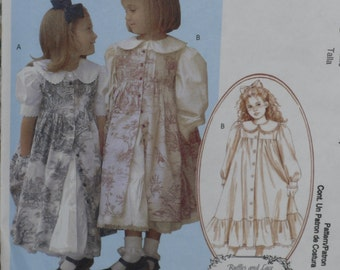 McCall's M4648 Pattern Girls' Dresses & Pinafores Wedding Holiday Uncut Size 2, 3, 4, 5