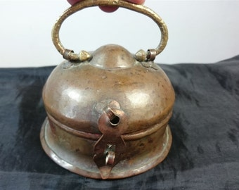 Antique Copper Metal Trinket Box Late 1800's - Early 1900's Arts and Crafts