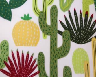 One Half Yard of Fabric Material - Cactus