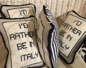 Custom Embroidered Pillow as Door Hanger (personalized message)
