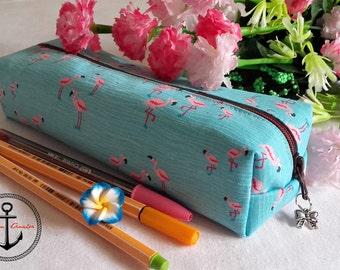 Estuche flamencos - Flamingo pencilcase
