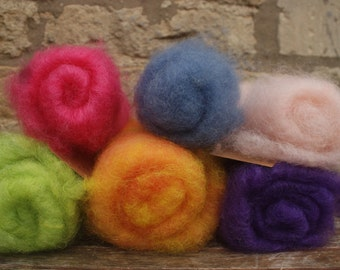 Hand Dyed Rare Breed Batts - various weights 25g - 50g