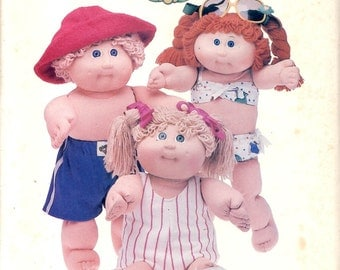 Butterick 360 Cabbage Patch Kids Swim Suit Outfits Sewing Pattern