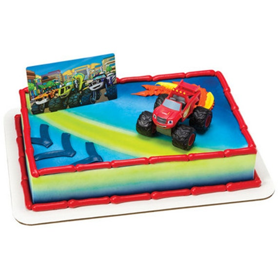 Blaze And The Monster Machines Cake Decor Topper Set