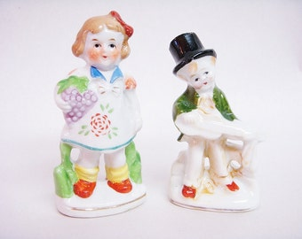 OCCUPIED JAPAN COLLECTIBLE Figurines Boy and Girl
