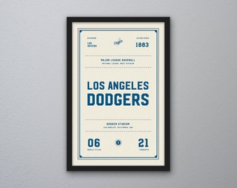 "Los Angeles Dodgers ""Day & Night"" Print"