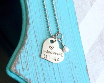 Missionary Necklace - Sister - Elder - Mom - Stainless - Pearl Charm - Girlfriend - Gift for a Missionary Mom