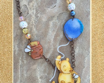 Flying Teddy 'Floating Charm Necklace'