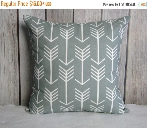 Arrow Pillow. Arrow. Grey Pillow. Grey. Accent Pillow. Pillow Cover