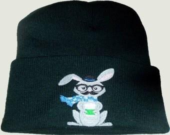Beanie Hat, Geek Rabbit ,Guy Friendly,Geek Beanie, Winter Hat,