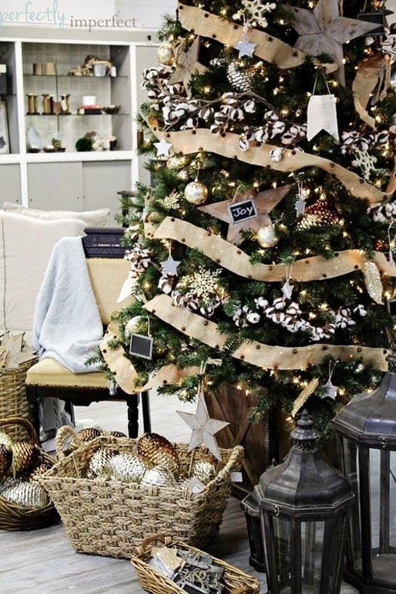 Rustic Christmas Tree Skirts