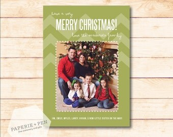 Chevron Modern // Christmas Photo Card