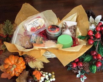 Harvest to Holiday Gift Basket-fragrance from Fall to Christmas-Fall-Hostess gift basket-spa gift basket-bridal gift basket-birthday gift