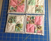 Quilted Mug Rugs (set of 4)