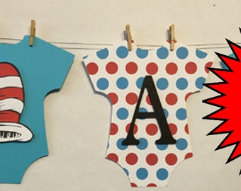 It's A Boy Baby Banner, Mini Clothespin, Baby Shower Decorations, Party Decorations, Dr Seuss Inspired
