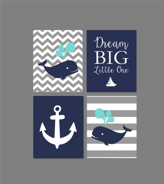 Nursery Decor Whale Nursery Art Print Baby Shower Gift Gray
