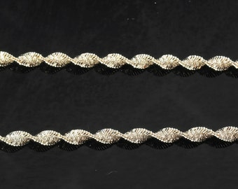 """3.6mm 30"""" Sterling Silver Twisted, Spiral Chain Necklace"""