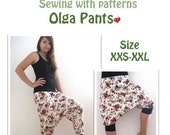 """20% OFF US-Olga *** ebook bloomers pants patterns size xxs-xxl sewing instructions """"quick & easy"""" design by firstloungeberlin"""