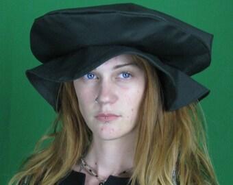 Flat Cap - Renaissance Faire Hat, Tudor flat cap for costumes