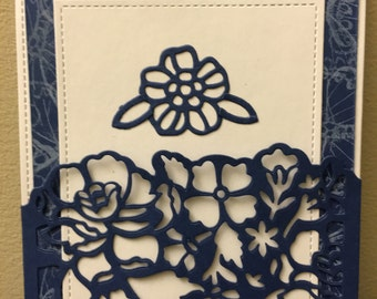 Detailed Floral Notecard