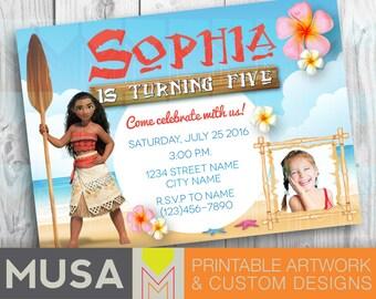 Moana / Digital party invitation / Printable