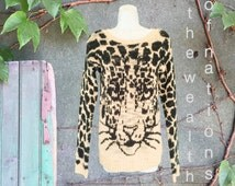 Leopard Knitting Pattern : Popular items for animal print knit on Etsy