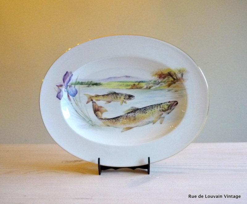 Limoges fish serving platter vintage limoges fish by for Fish serving platter
