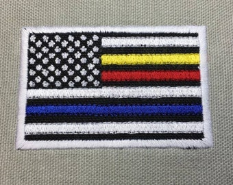 US Flag Dispatch, Fire, EMS and Police Hat PATCH - Police - Law Enforcement -  Digital Embroidery Design