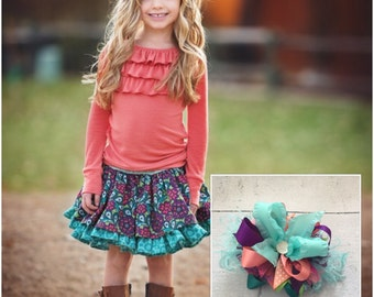 Persnickety plum crazy Lily bow to match