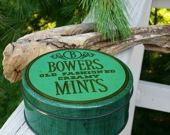 Bowers Old Fashioned Creamy Mints Tin