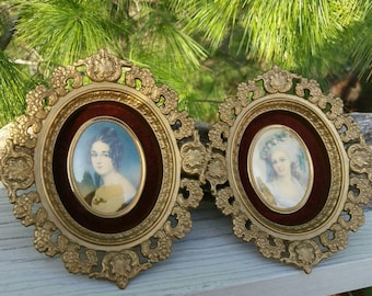 Pair of Cameo Creations Wall Plaques 1960s