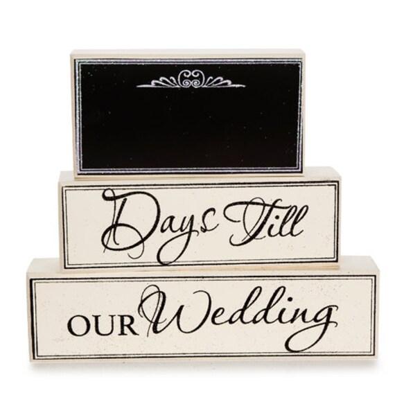 Wedding Countdown Checklist: Chalkboard Wedding Day Countdown Blocks By JessiesGiftBoutique