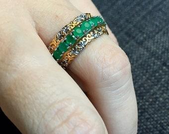 Emerald City ! 2.07ctw Round Emerald Band Ring