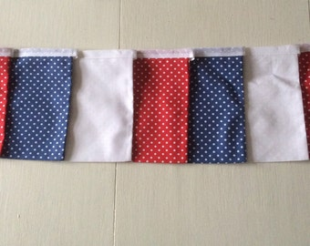 Red, White & Blue Square Bunting / Street Party Bunting