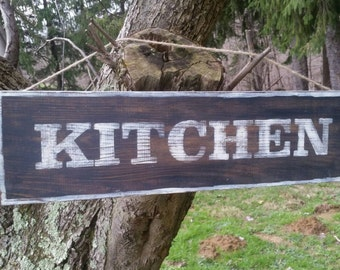Primitive Kitchen Sign