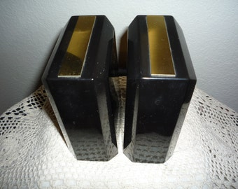 Black and Gold Bookends