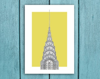 Chrysler Building New York City. unique COLOURED 7x5 and 14x10 PHOTO PRINTS A great unique gift for New York Architecture fans!