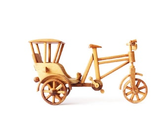 Wooden Toy Tricycle 01 in Handmade