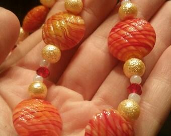 Handmade Orange Bracelet