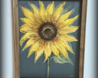 Sunflower,outdoor art,yellow sunflower,rustic art