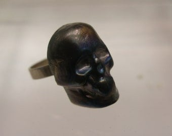 Murano Glass skull ring