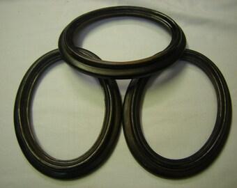 3 oblong resin frames-art-crafts-wall display-supply-dark brown-