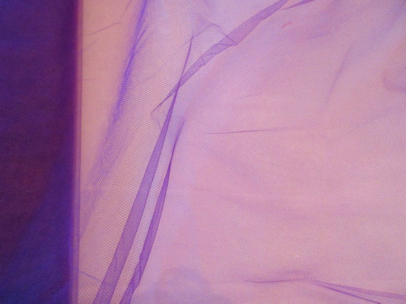 How To Basket Weave Tulle : Nylon tulle net fabric mystic purple color quot wide