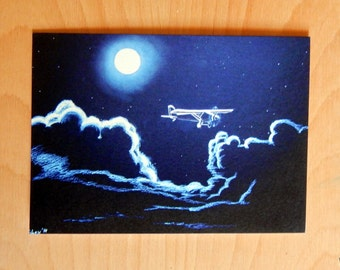 Spirit of St. Louis night flight greeting card set of 5